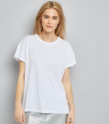 White Distressed Edge T-Shirt