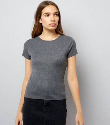 Grey Fitted T-Shirt