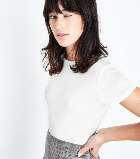 White Fitted T-Shirt | New Look