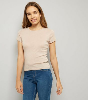 Light Brown Fitted T-Shirt