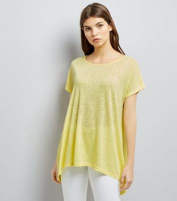 Yellow Hanky Hem T-Shirt