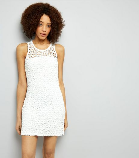 Blue Vanilla White Lace Shift Dress | New Look