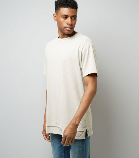 Stone Double Layered Acid Wash T-Shirt | New Look