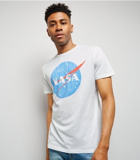White Nasa Logo T-Shirt | New Look