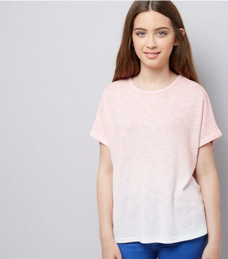 Teens Coral Ombre T-Shirt  | New Look
