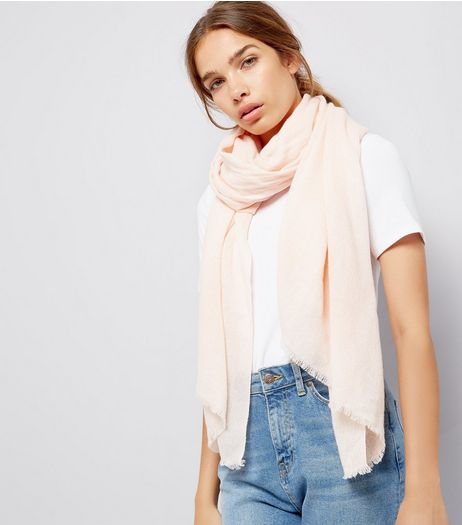 Pink Plain Scarf  | New Look