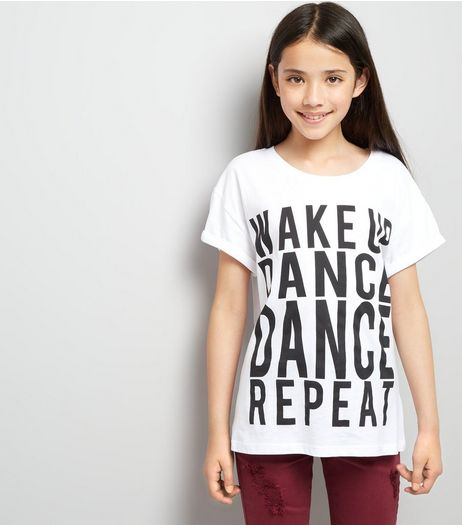 Teens Wake Up Dance Dance Repeat T-Shirt | New Look
