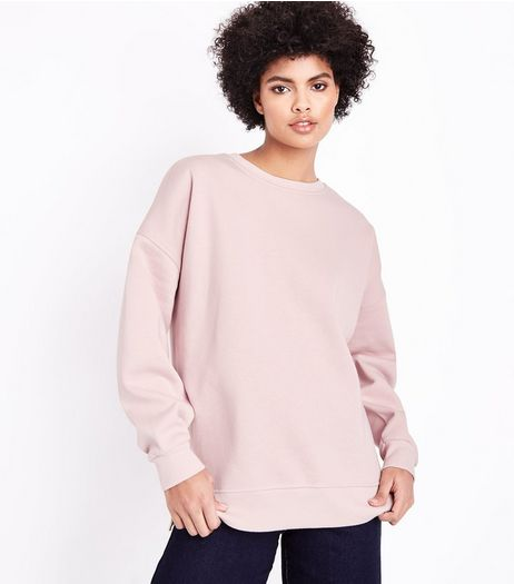 Pink Slouchy Split Side Sweater | New Look