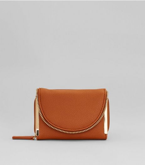 Tan Zip Around Purse | New Look