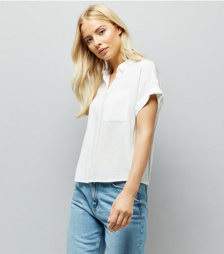 Cream Short Sleeve Shirt | New Look