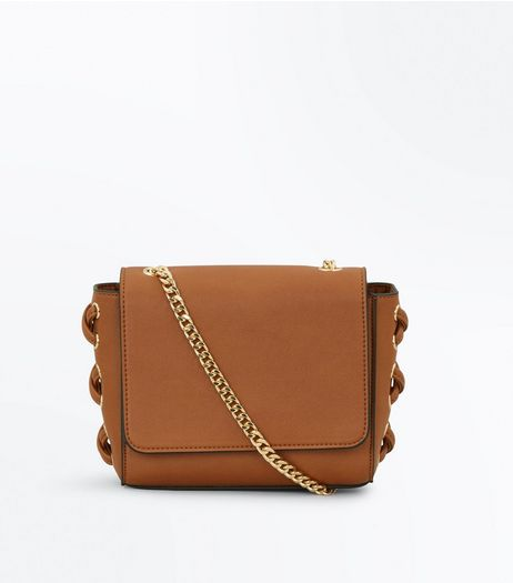 Tan Lace Up Side Cross Body Bag | New Look