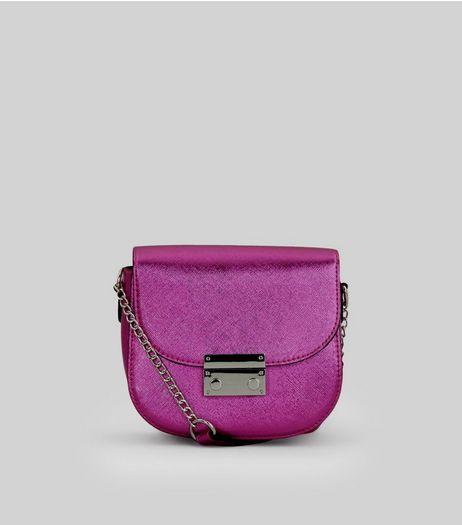 Pink Metallic Mini Cross Body Bag | New Look
