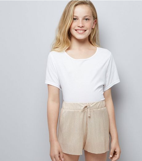 Teens Pink Pleated Shorts | New Look