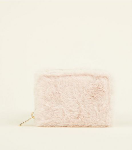 Pink Faux Fur Cardholder | New Look