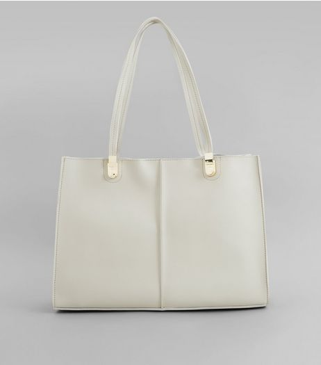 Grey Structured Tote Bag | New Look