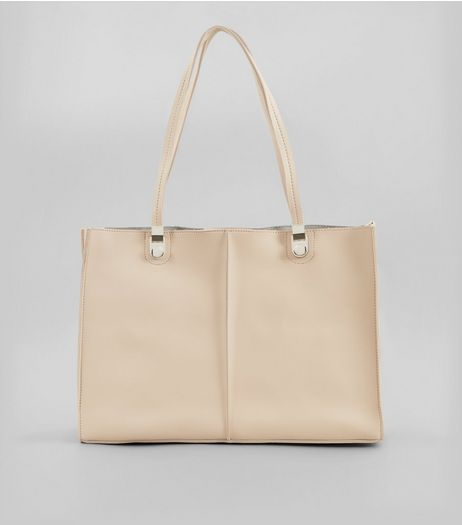 Nude Structured Tote Bag | New Look