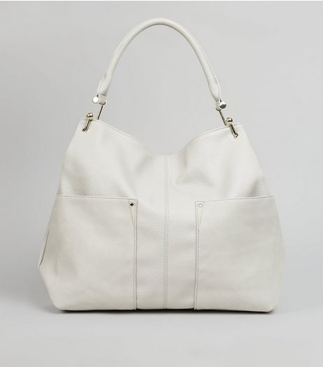 Cream Gold Hook Tote Bag | New Look