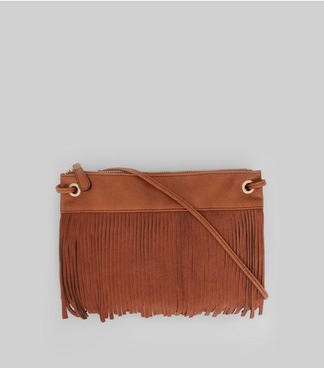Tan Fringe Front Cross Body Bag | New Look