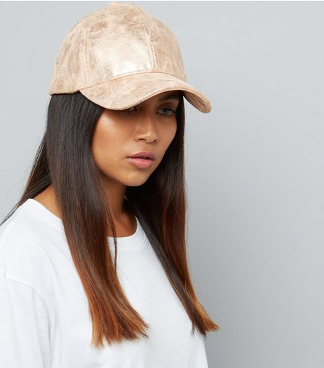 Bronze Metallic Cap | New Look