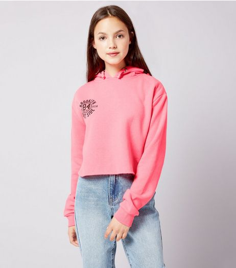 Teens Pink NYC Print Hoodie  | New Look
