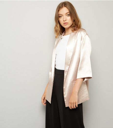 Bronze Metallic Satin Kimono | New Look