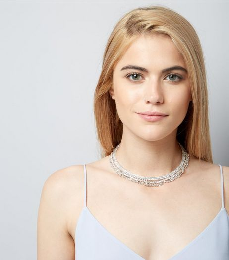 Crystal Gem Drop Torque Necklace | New Look