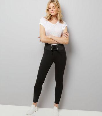 Black Corset Waist Leggings
