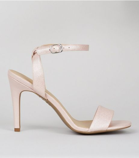 Pink Cross Strap Back Heeled Sandals  | New Look