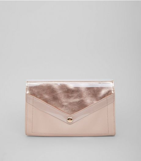 Nude Transparent Panel Clutch Bag | New Look