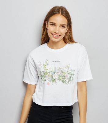 Pale Grey Now Or Never Floral Top