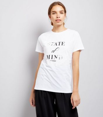 White State Of Mind Printed T-Shirt