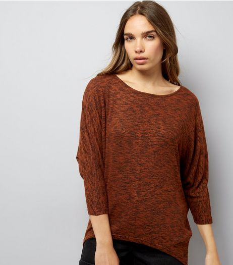 Brown Batwing Sleeve Top | New Look