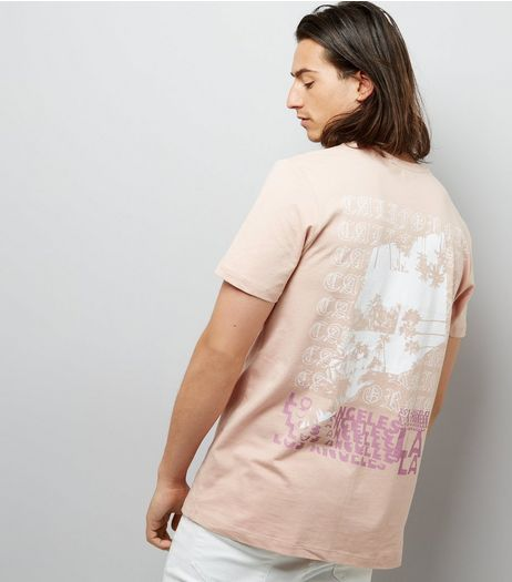 Pink LA Back Print T-Shirt | New Look