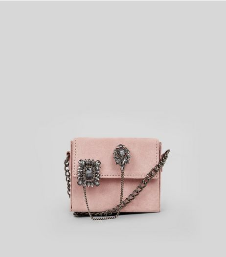 Pink Micro Embellished Cross Body Bag | New Look