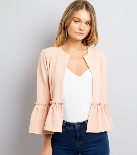 Cameo Rose Shell Pink Frill Hem Jacket | New Look