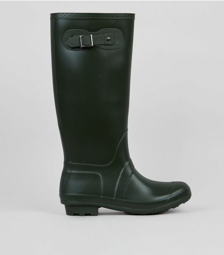 Khaki Knee High Wellies | New Look