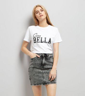 White Ciao Bella Cotton T-Shirt
